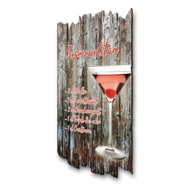 "Cocktail-Holzschild ""Cosmopolitan"""