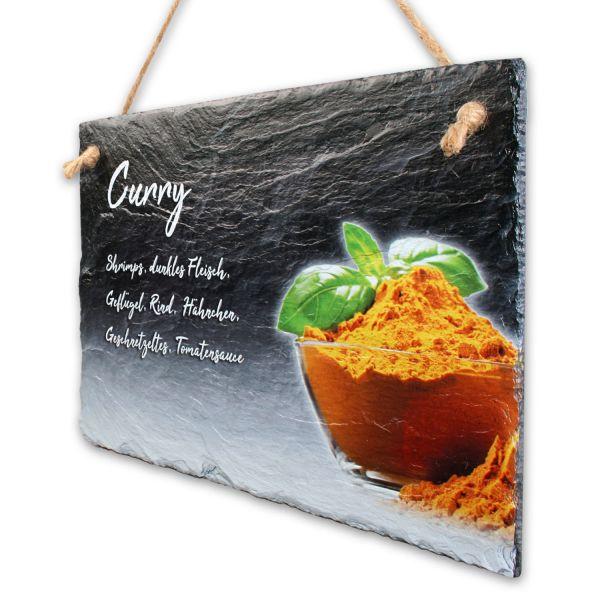 """Gewürze-Schieferschild """"Curry"""""""