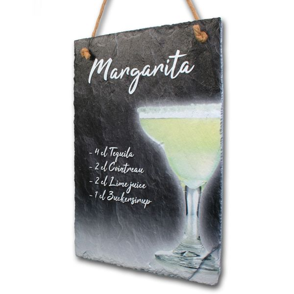 "Cocktail-Schieferschild ""Margarita"""