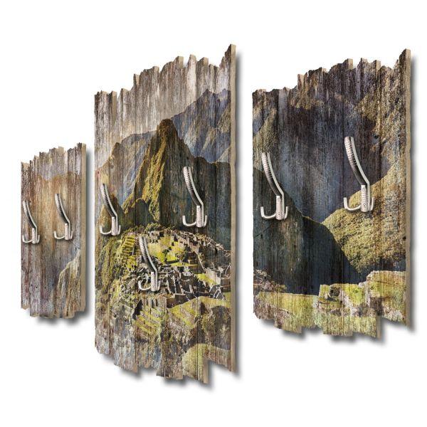 Machu Picchu Shabby chic 3-Teiler Garderobe aus MDF