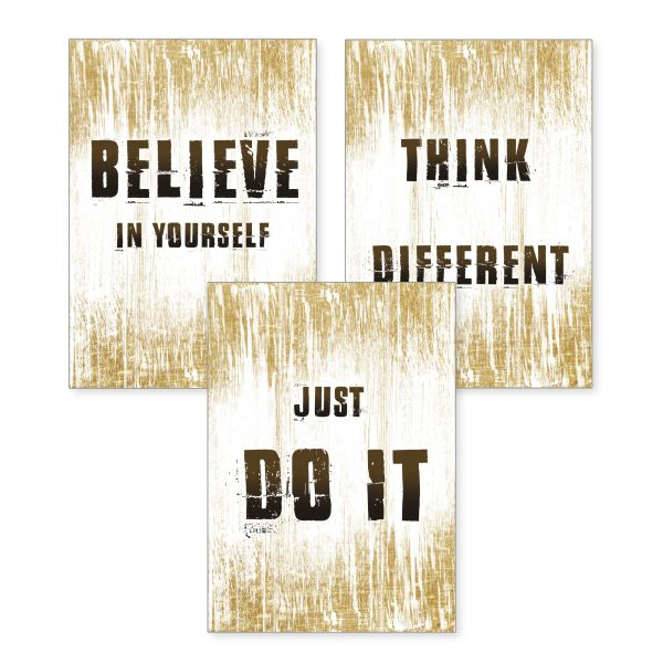 3-teiliges Poster-Set | just do it | optional mit Rahmen | DIN A4 oder A3