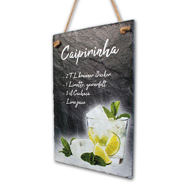 """Cocktail-Schieferschild """"Caipirinha"""""""