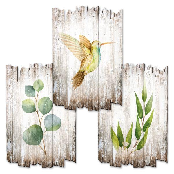 Kolibri   Deko-Holzschilder im 3er Set   wahlw. in 30x20cm oder 30x45cm
