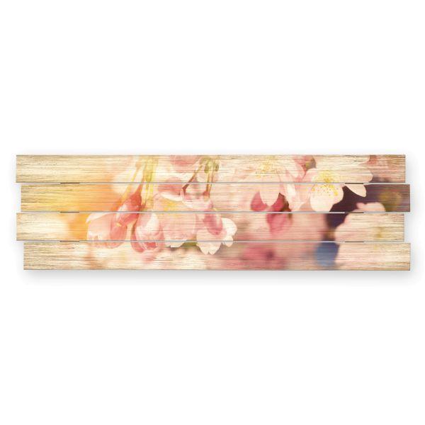 Kirschblüten | Shabby chic Holzbild | ca.100x30cm
