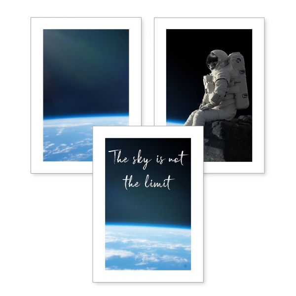 3-teiliges Poster-Set   Limit   optional mit Rahmen   DIN A4 oder A3