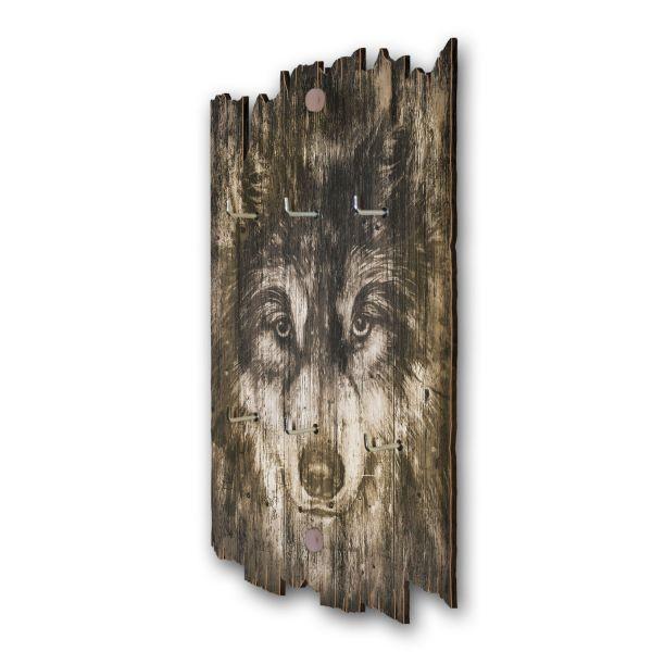 Wolfsblick Schlüsselbrett mit 6 Haken im Shabby Style aus Holz