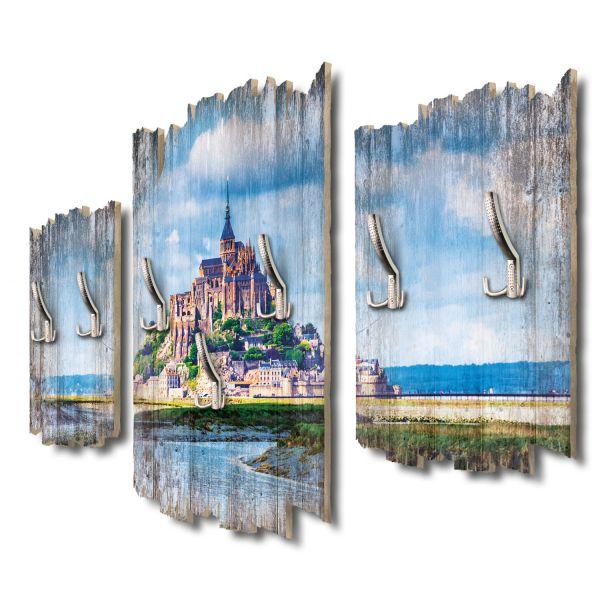 Mont-Saint-Michel Shabby chic 3-Teiler Garderobe aus MDF