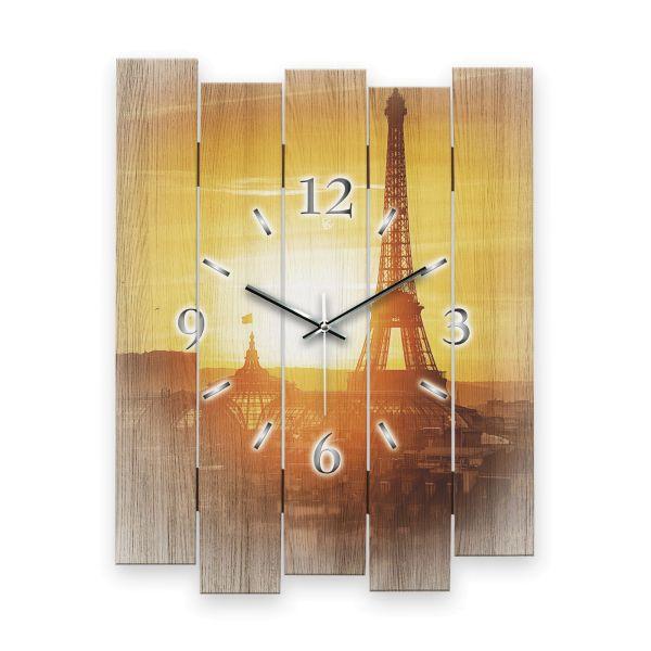 """Designer Wanduhr """"Paris"""" aus MDF mit leisem Funk- oder Quarzuhrwerk"""