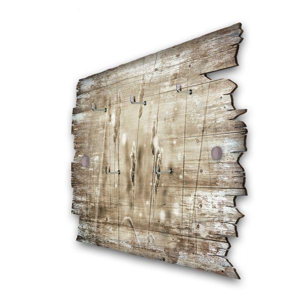 Gräser im Wind Schlüsselbrett mit 5 Haken im Shabby Style aus Holz