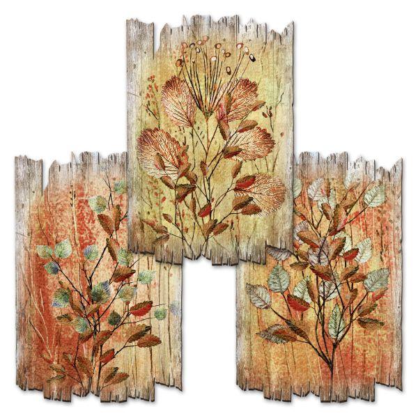 Herbstblätter | Deko-Holzschilder im 3er Set | wahlw. in 30x20cm oder 30x45cm