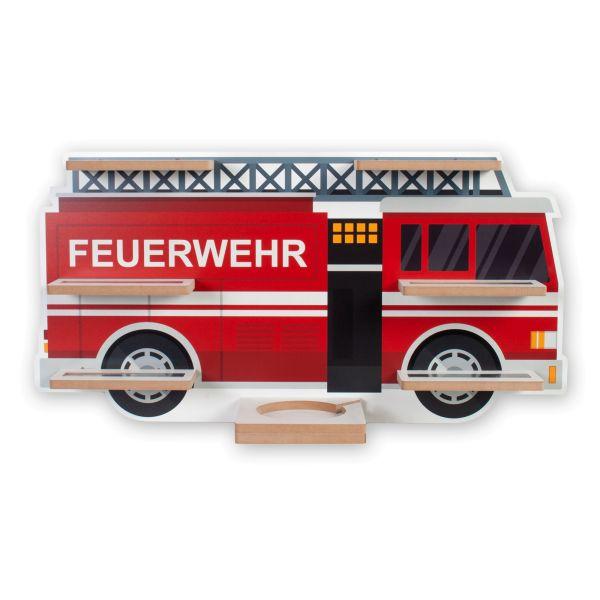 """""""Feuerwehrauto"""" Regal für Musikbox und Figuren fürs Kinderzimmer aus MDF"""