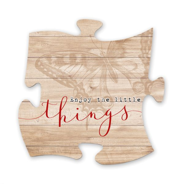 Little Things | Deko-Schild Holz-Puzzleteil ca. 30cm x 30cm | Shabby Chic Design