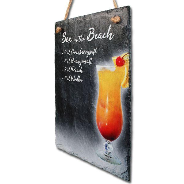 """Cocktail-Schieferschild """"Sex on the Beach"""""""