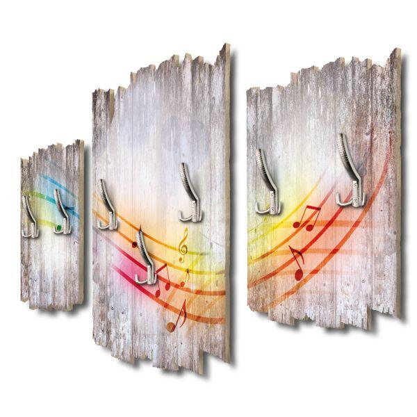 Music in the Air Shabby chic 3-Teiler Garderobe aus MDF