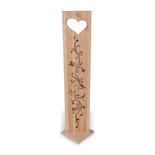 Ornament   Holzstele mit schönen Motiven   ideale Deko für Haustür oder Flur