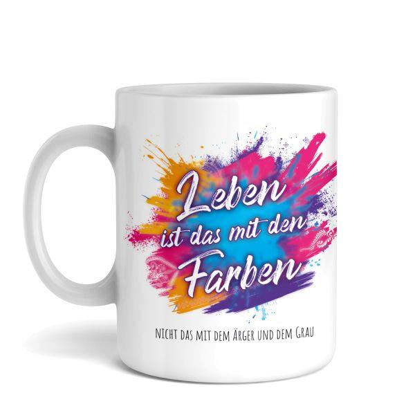 Tasse mit Motiv   Farben   Keramiktasse   fasst ca. 300ml   ideales Geschenk