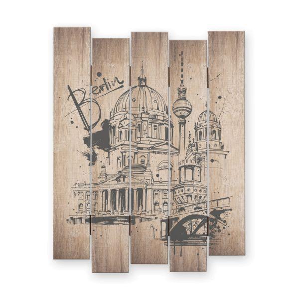 Berlin | Shabby chic Holzbild | ca.60x44cm