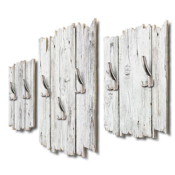 Holzoptik weiß Shabby chic 3-Teiler Garderobe aus MDF