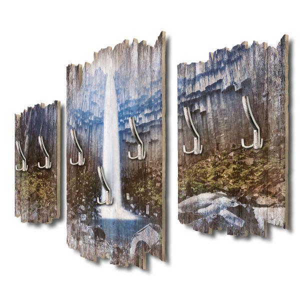 Svartifoss Wasserfall Island Shabby chic 3-Teiler Garderobe aus MDF