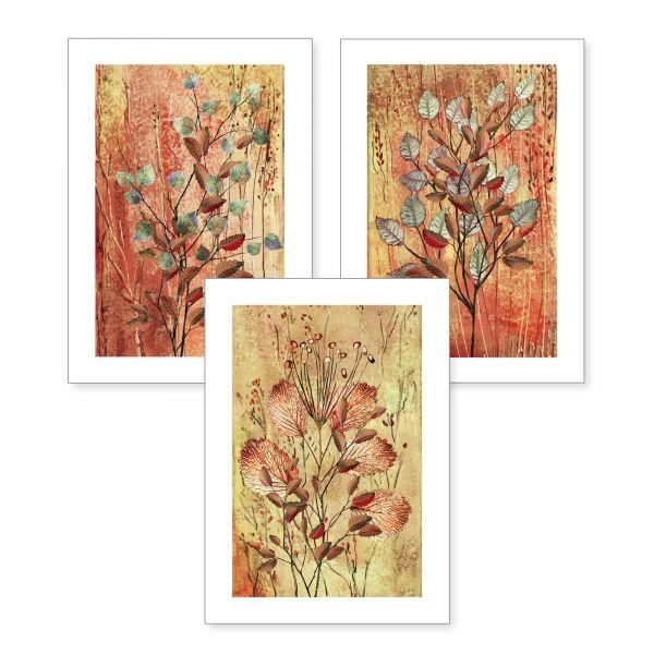 3-teiliges Poster-Set | Herbstliche Zweige | optional mit Rahmen | DIN A4 oder A3