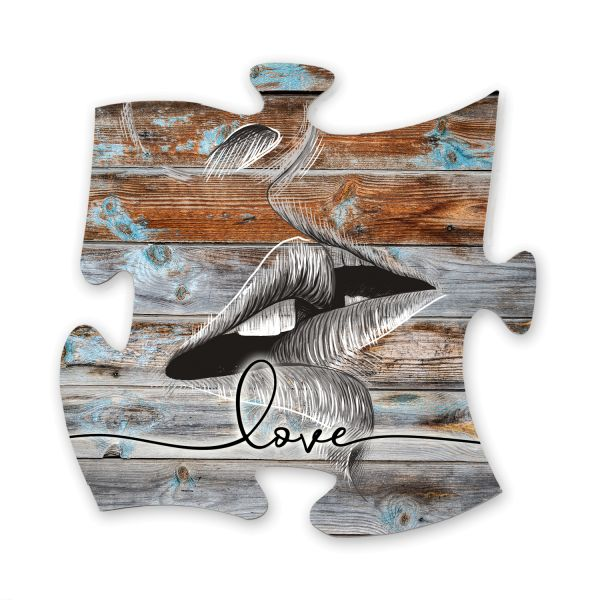 Love | Deko-Schild Holz-Puzzleteil ca. 30cm x 30cm | Shabby Chic Design