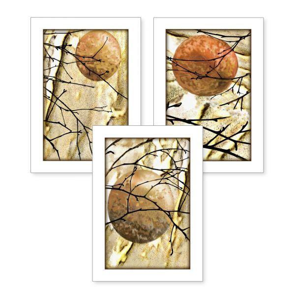 3-teiliges Poster-Set | Abstrakt | optional mit Rahmen | DIN A4 oder A3