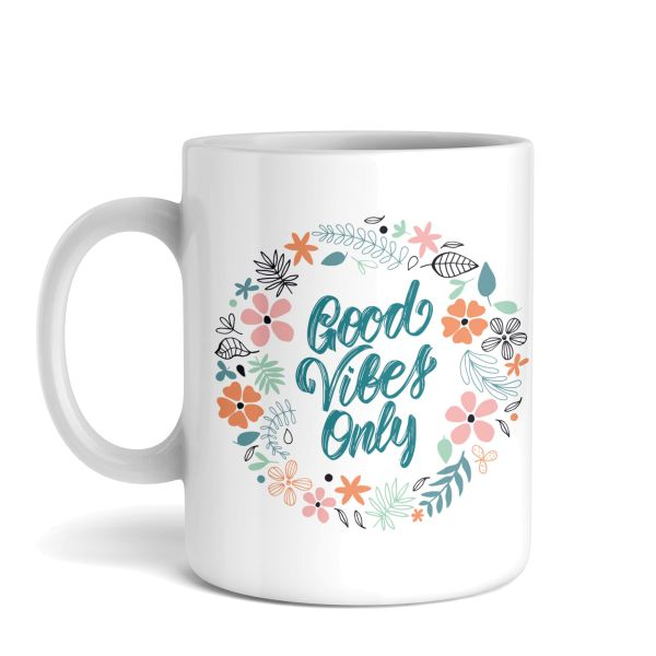 Tasse mit Motiv | Good Vibes Only | Keramiktasse | fasst ca. 300ml | ideales Geschenk