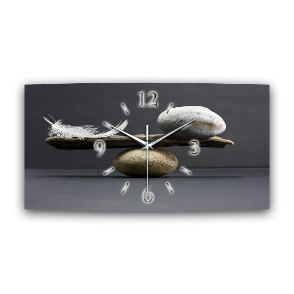 Wanduhr Balance aus Alu-Verbund mit leisem Funkuhrwerk