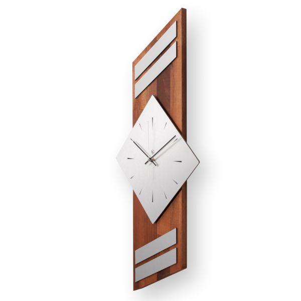 """Designer Funk-Wanduhr """"Akazie"""" aus Massivholz mit leisem Funk- oder Quarzuhrwerk"""