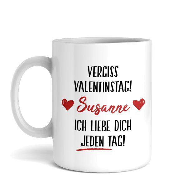 Tasse mit Ihrem Wunschnamen   Valentinstag   Keramiktasse   fasst ca. 300ml   ideales Geschenk