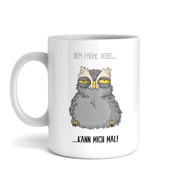 Tasse mit Motiv | Der frühe Vogel | Keramiktasse | fasst ca. 300ml | ideales Geschenk