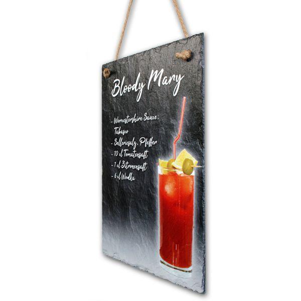 """Cocktail-Schieferschild """"Bloody Mary"""""""