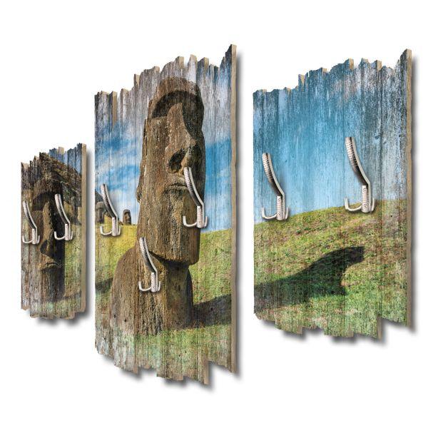 Moai Osterinseln Shabby chic 3-Teiler Garderobe aus MDF