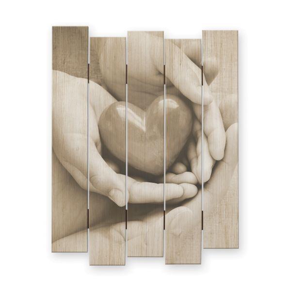 Herz | Shabby chic Holzbild | ca.60x44cm
