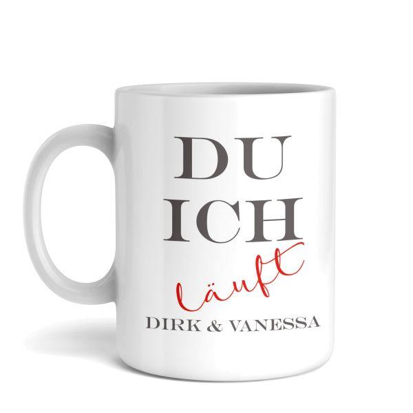 Tasse mit Ihrem Wunschnamen | Läuft | Keramiktasse | fasst ca. 300ml | ideales Geschenk