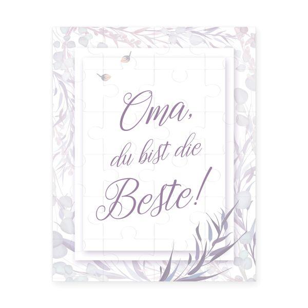 "Puzzle ""Beste Oma"" inkl. Jutesäckchen | versch. Designs | Glückwunsch | tolles Geschenk"