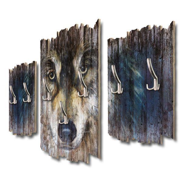Wolfsblick Shabby chic 3-Teiler Garderobe aus MDF