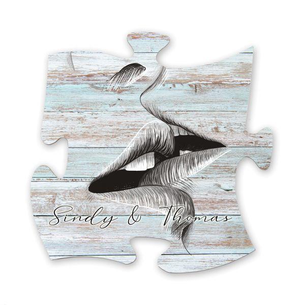 Personalisiert   Deko-Schild Holz-Puzzleteil ca. 30cm x 30cm   Shabby Chic Design