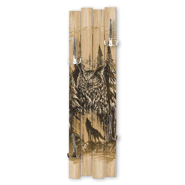 Wildnis | Shabby chic Holz-Garderobe | ca.100x30cm aus MDF