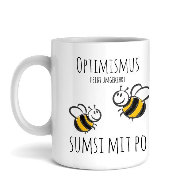Tasse mit Motiv | Optimismus | Keramiktasse | fasst ca. 300ml | ideales Geschenk