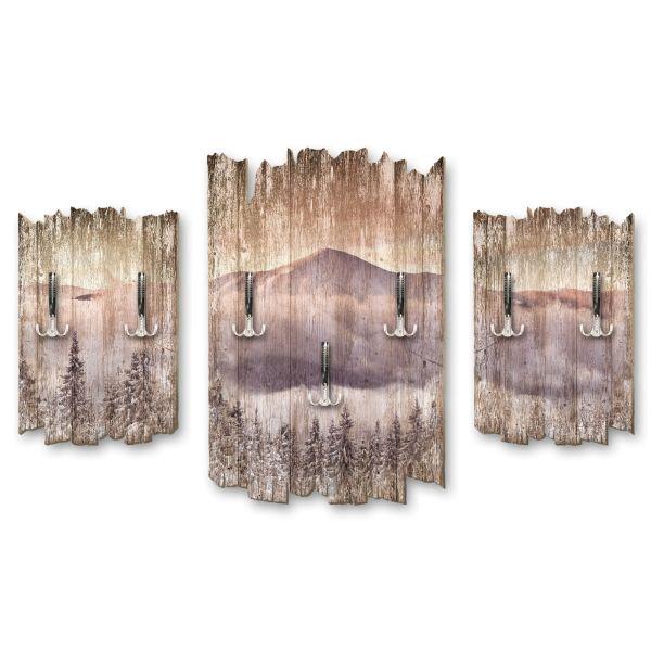 Ruhiger Berg Shabby chic 3-Teiler Garderobe aus MDF