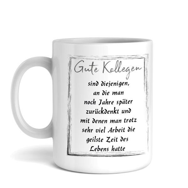 Tasse mit Motiv | Gute Kollegen | Keramiktasse | fasst ca. 300ml | ideales Geschenk