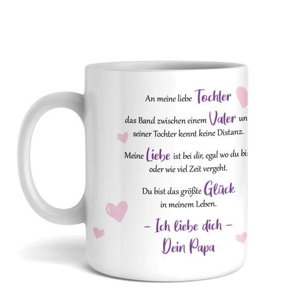 Tasse mit Motiv | Vater & Tochter | Keramiktasse | fasst ca. 300ml | ideales Geschenk