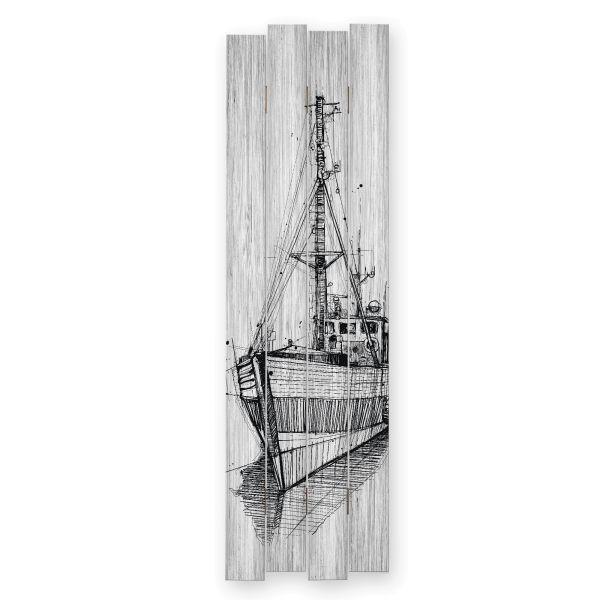 Schiff | Shabby chic Holzbild | ca.100x30cm
