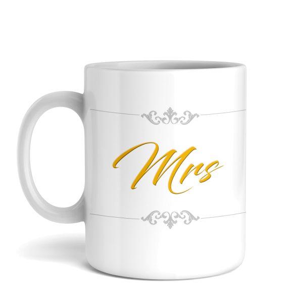 Tasse mit Motiv | Mrs | Keramiktasse | fasst ca. 300ml | ideales Geschenk