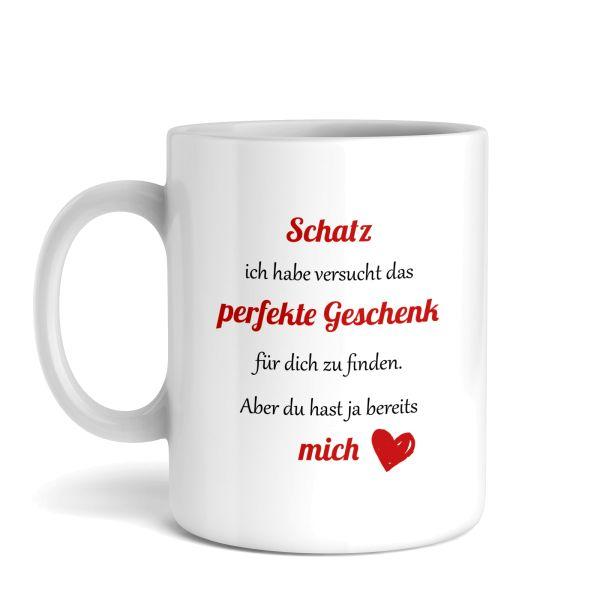 Tasse mit Motiv   Schatz   Keramiktasse   fasst ca. 300ml   ideales Geschenk