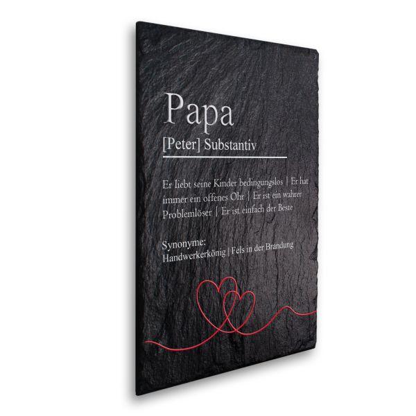 Papa Definition Deko-Schild aus echtem Schiefer mit Ihrem Wunschtext