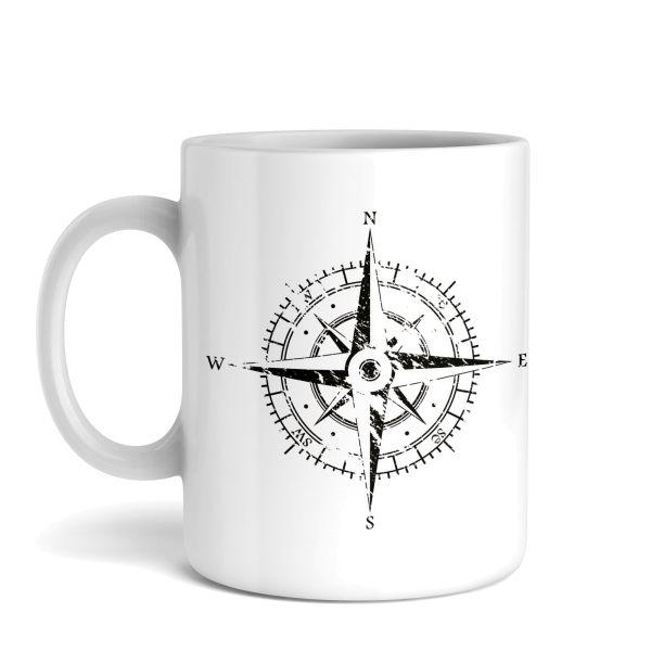 Tasse mit Motiv | Kompass | Keramiktasse | fasst ca. 300ml | ideales Geschenk