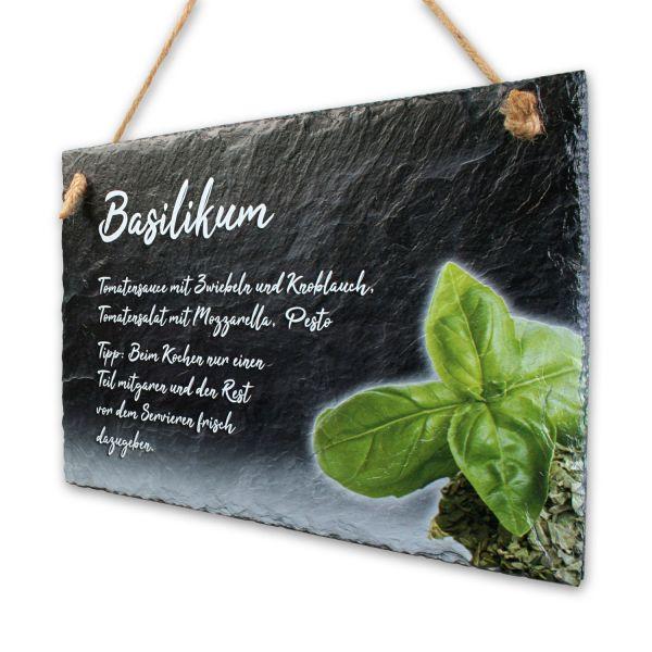 "Gewürze-Schieferschild ""Basilikum"""