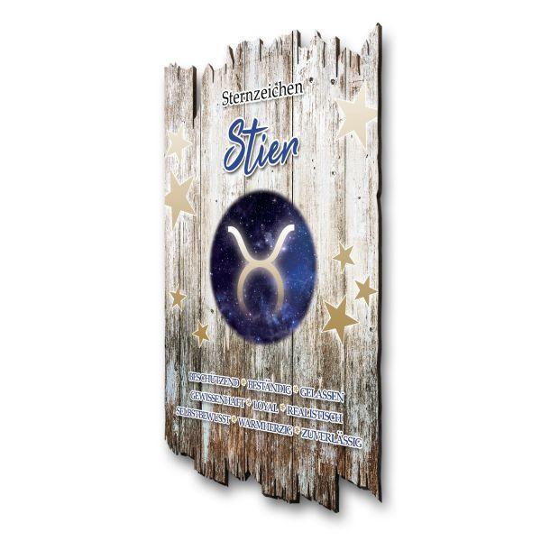 """Sternzeichen-Holzschild """"Stier"""""""